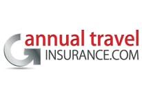 annual travel insurance . Com logo